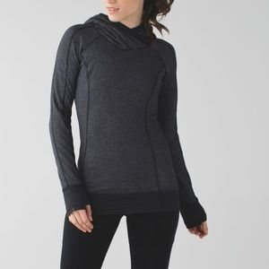 Lululemon Think Fast Hoodie Heathered Herringbone